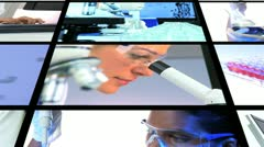 Montage Science Medicine Research Stock Footage