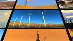 Montage Fossil Fuel Clean Energy Contrast Stock Footage
