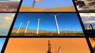 Stock Video Footage of Montage Fossil Fuel Clean Energy Contrast