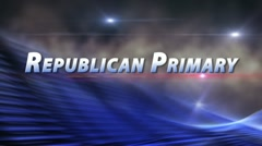 CAMPAIGN 2012 Republican Primary Election Bumper HD ProRes Stock Footage