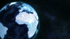 A video emerges showing a man with a globe with Earth image courtesy of Nasa.org - stock footage