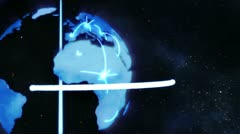 A video appears showing three people with a globe with Earth image courtesy of Stock Footage