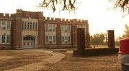 Franklinton Junior High School, built in 1939 in Franklinton, Louisiana Stock Footage