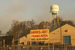 Franklinton Water Tower, Garden Spot Business Sign Stock Footage