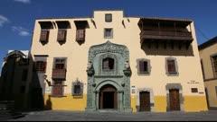 Stock Video Footage of Columbus House, Case de Colon, in Las Palmas de Gran Canaria, Spain