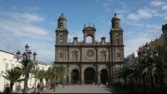 Cathedral Santa Ana in Las Palmas de Gran Canaria - stock footage
