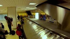 Houston george bush airport baggage claim carousel travel luggage business  Stock Footage