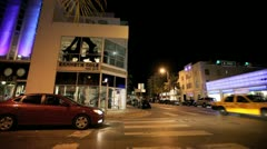 Collins avenue and 8th Street Stock Footage