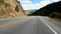 POV driving through the mountains in Colorado Stock Video Footage Stock Footage