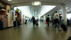 Travelers Los Angeles Lax terminal people walking passenger travel cutaway broll Stock Footage