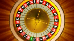 Roulette with rays Stock Footage