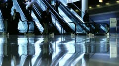 Travelers at the airport Stock Footage
