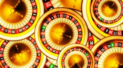 Roulette wheels - stock footage