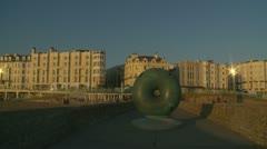 Sculpture in Brighton  (glidecam one) Stock Footage