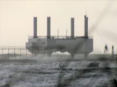 Wave Energy Windsurfers Hanstholm - stock footage