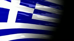 Crisis map Greece Stock Footage