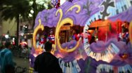 People on Canal Street Screaming for Beads at a Mardi Gras Parade 2408 Stock Footage