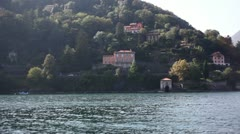 Cannobio aproach from lake - Lago Maggiore - stock footage