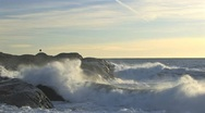 High waves hits shore Stock Footage