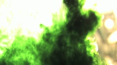 Green Ink in Water HD Stock Footage