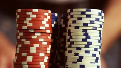 Casino Chips Stock Footage