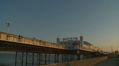 Brighton pier glidecam one Stock Footage