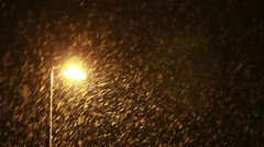 Snowfall - sequence Stock Footage
