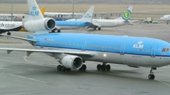 KLM Airplanes Stock Footage