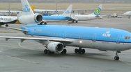 KLM Airplanes Stock Footage