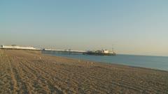 Brighton beach & pier (glidecam) Stock Footage