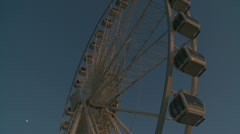Big wheel to Brighton pier glidecam two Stock Footage