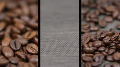 Fresh coffee beans sequences Stock Footage