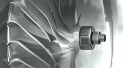 3D metallic turbine - stock footage