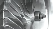 Stock Video Footage of 3D metallic turbine