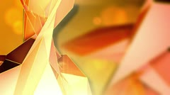 Triangle - 1 - Orange - stock footage
