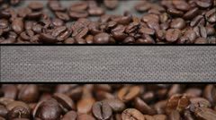Coffee beans sequences Stock Footage