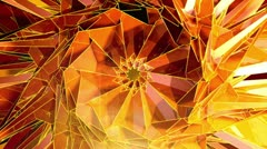 Triangle - 3 - Orange - stock footage