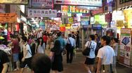 Stock Video Footage of Hong Kong  Market Crowd 2