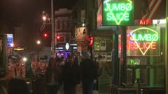 Adams Morgan Night Crowd Stock Footage