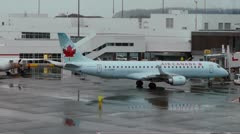 Air Canada Jet Push Back At YVR Stock Footage