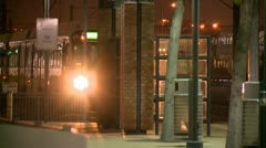 Dallas DART Train (Night) - stock footage