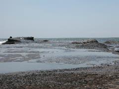 beautiful stones in the waves on ocean coast - stock footage