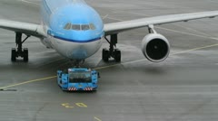 KLM Airplanes - stock footage