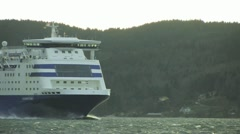 Ferry at the fjord Stock Footage