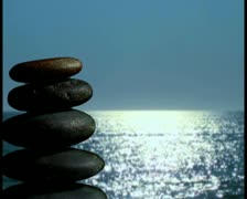 Zen rocks in nature V4 - PAL Stock Footage