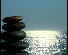 Zen rocks in nature V3 - PAL Stock Footage