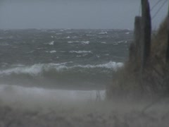 Windsurfers in Storm - Baltic Sea Stock Footage