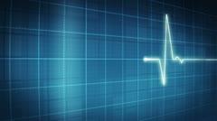EKG electrocardiogram pulse trace Stock Footage