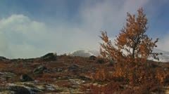 Mountain view in fall Stock Footage