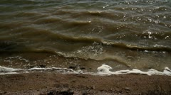 Waves hitting the shore Stock Footage